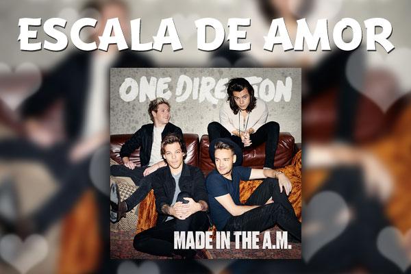"Escala de amor de ""Made in the A.M."", o novo álbum da One Direction"