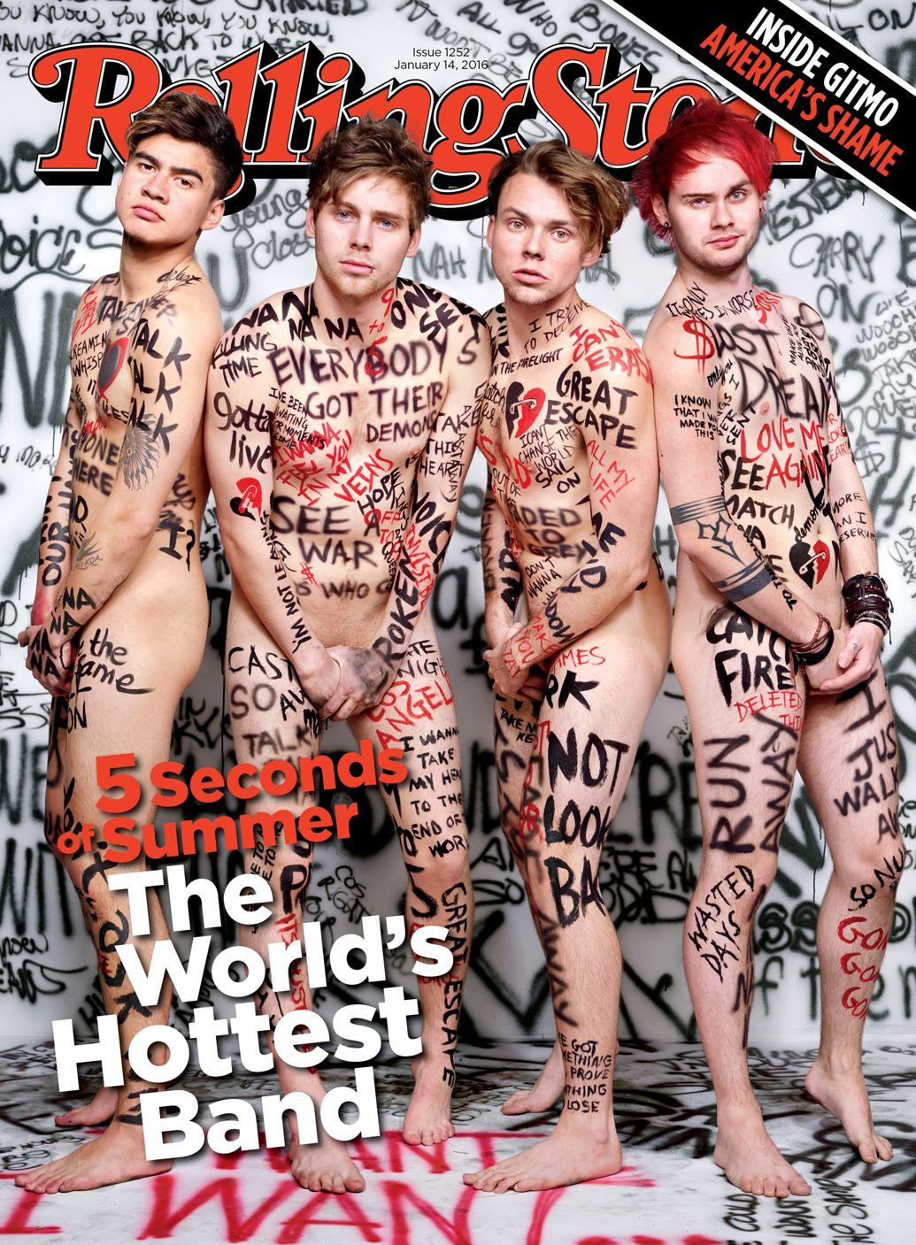 5 seconds of summer aparecem nus em capa de revista