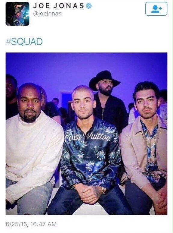 Joe Jonas, Kanye West e Zayn Malik