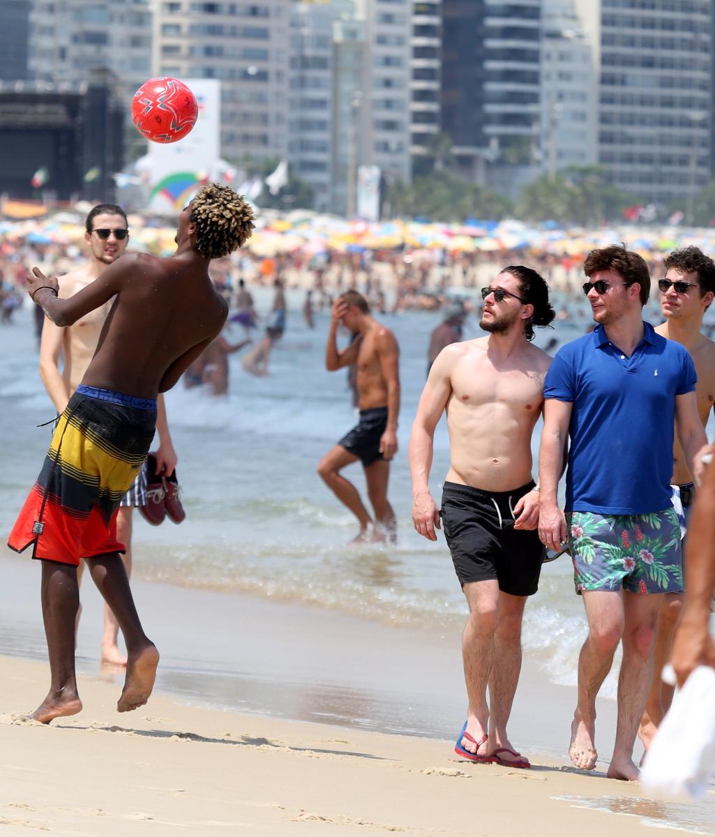 Kit Harington no Rio de Janeiro