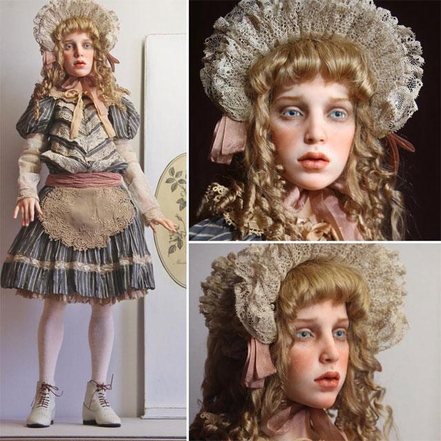 Artista russo cria bonecas incrivelmente realistas