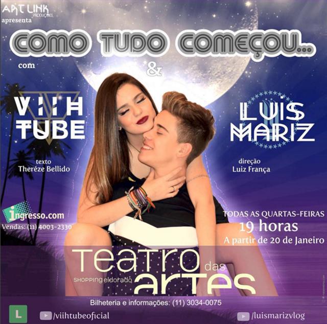 Alerta de estreia: a peça dos lindos Luis Mariz e Viih Tube
