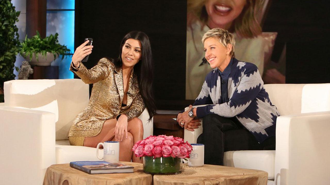 Ellen Degeneres e Kourtney Kardashian