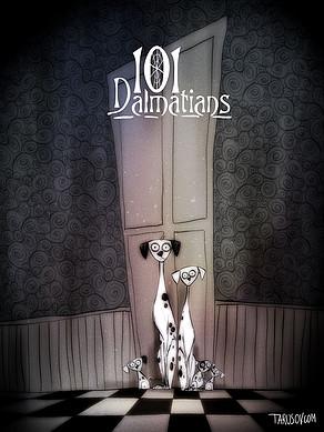 Artista transforma clássicos da Disney no estilo de Tim Burton