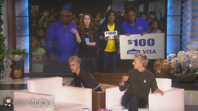 Justin Bieber e Ellen Degeneres