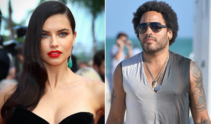 Famosos brasileiros que já ficaram com gringos: Adriana Lima e Lenny Kravitz