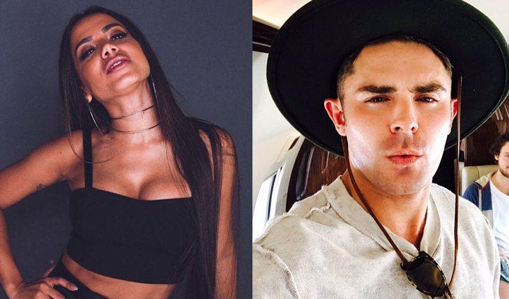Famosos brasileiros que já ficaram com gringos: Anitta e Zac Efron