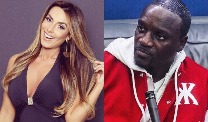 Famosos brasileiros que já ficaram com gringos: Nicole Bahls e Akon