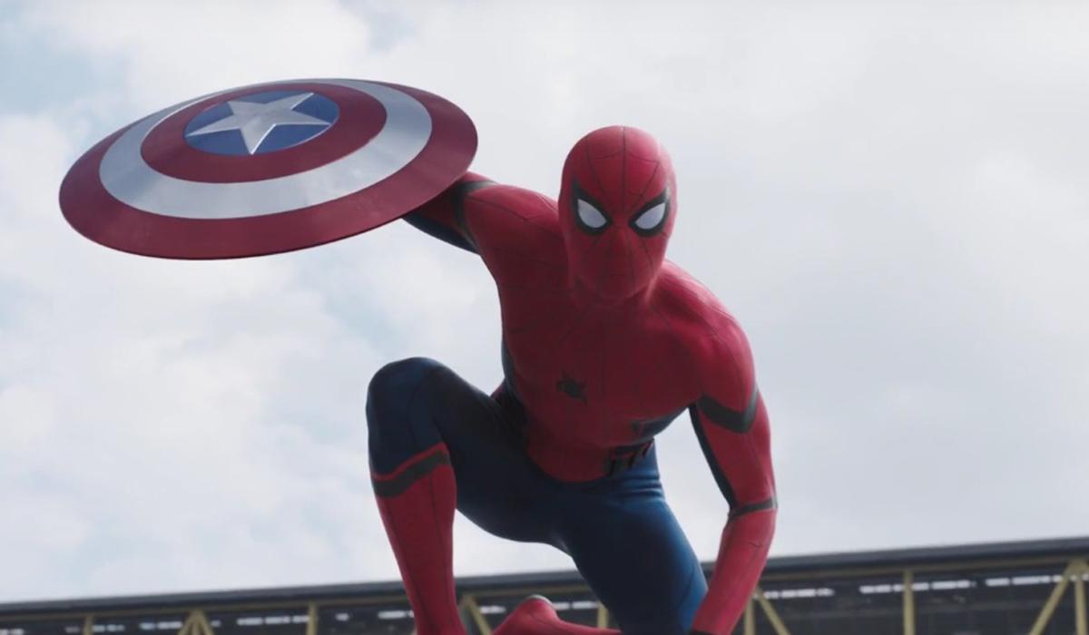 homem aranha com escudo do capitão america