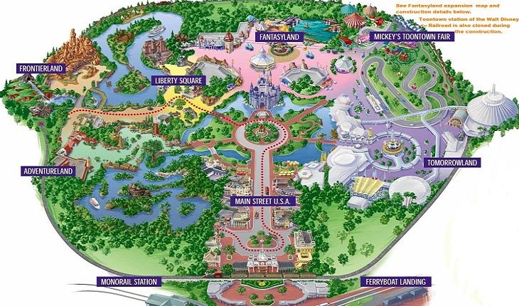 mapa-disney-parques-dicas de viagem para Disney