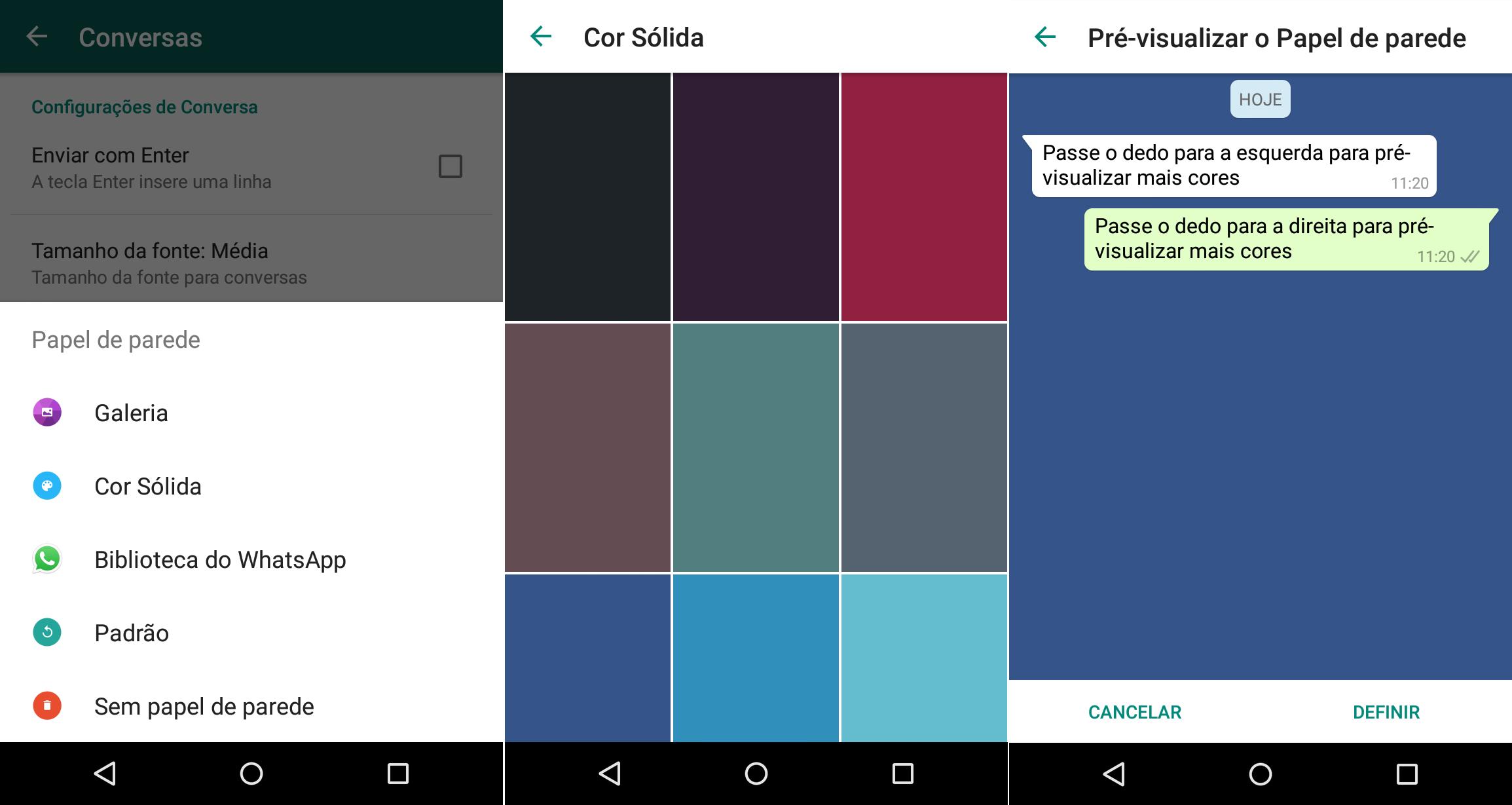 whatsapp atualização awallpaper coloridos