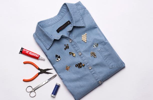 camisa jeans materiais