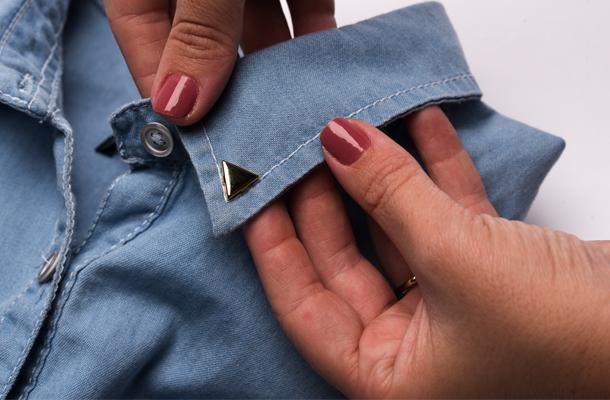 camisa jeans passo um