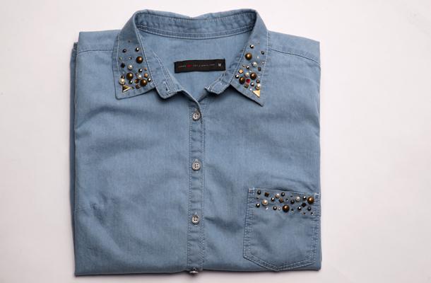 camisa jeans pronta