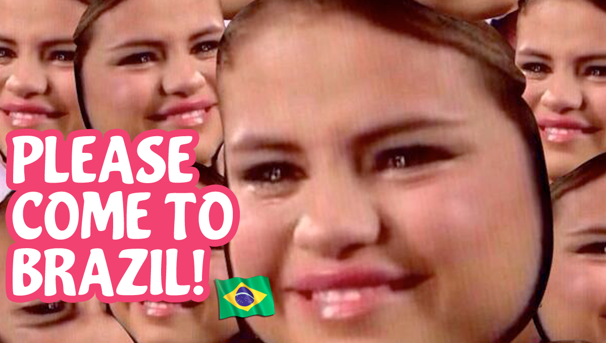 please come to brasil selena gomez