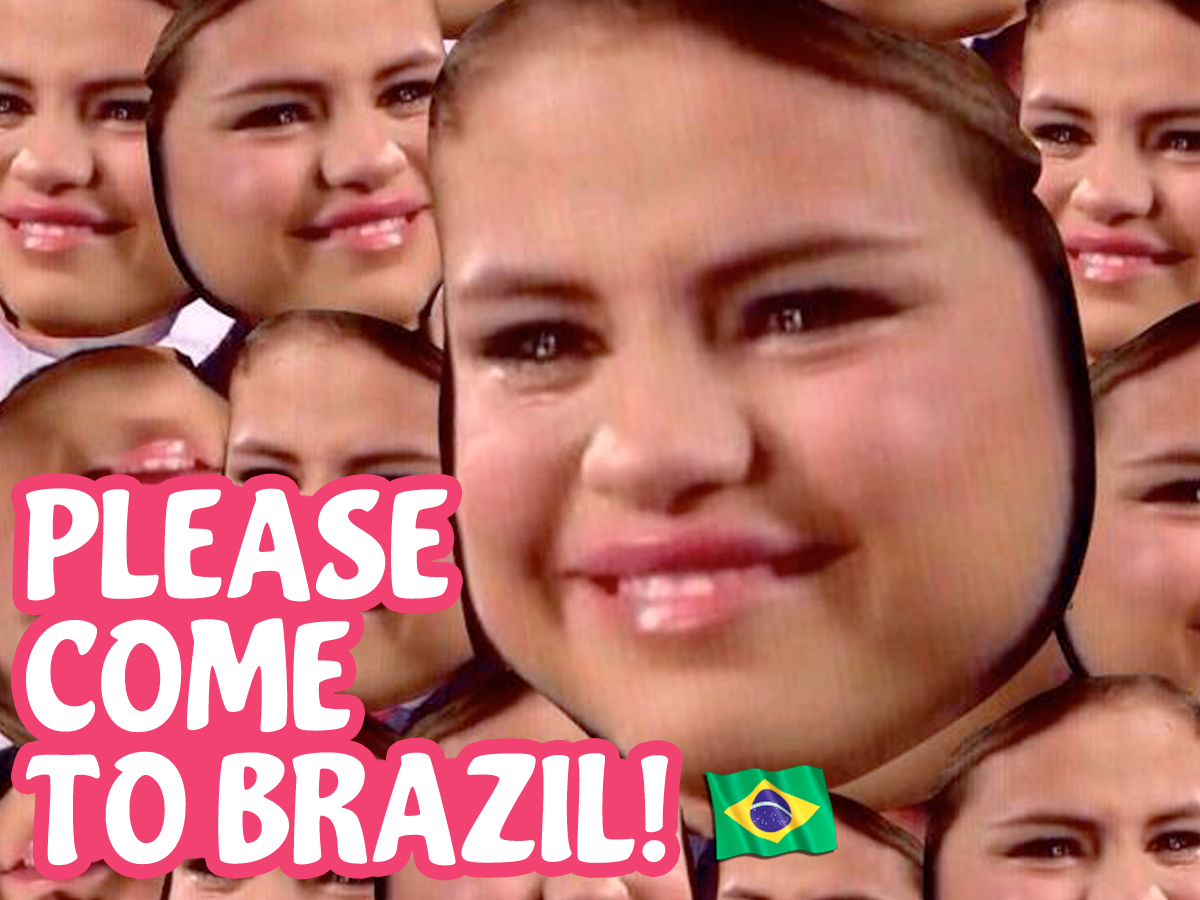please come to brazil selena gomez meme