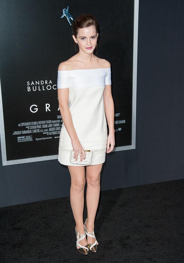 Emma Watson de vestido branco