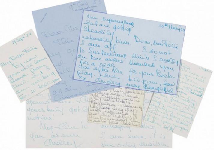 cartas raras de audrey hepburn leiloadas