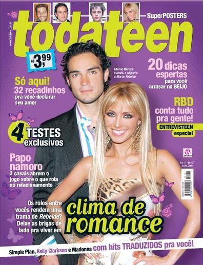 Anahi e Poncho capa todateen 2006