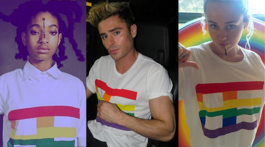 Willow Smith, Zac Efron e Miley Cyrus usam camisa de campanha LGBT