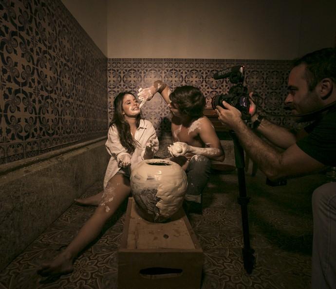 Amanda de Godoi e Francisco Vitti em ensaio