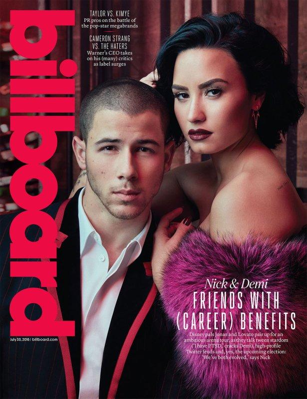 Demi Lovato e Nick Jonas na capa da Billboard