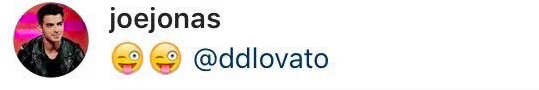 Joe jonas responde demi lovato no instagram