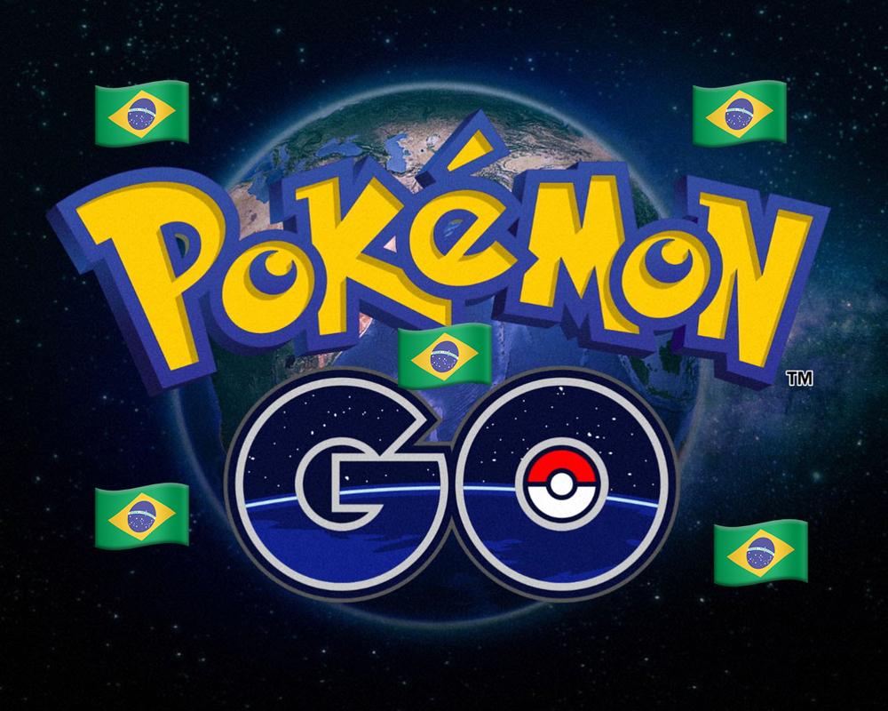 Pokémon Go com bandeiras do brasil