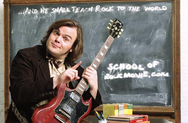 Cena de escola de rock