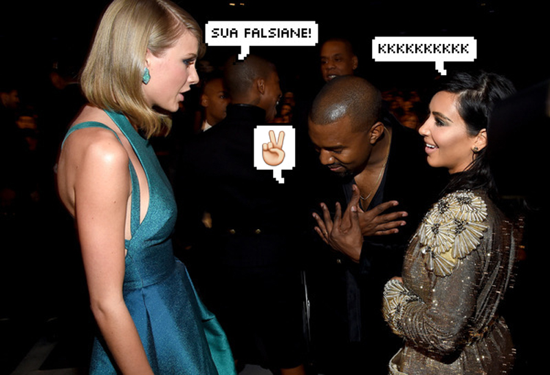 Taylor Swift, Kim Kardashian e Kanye West