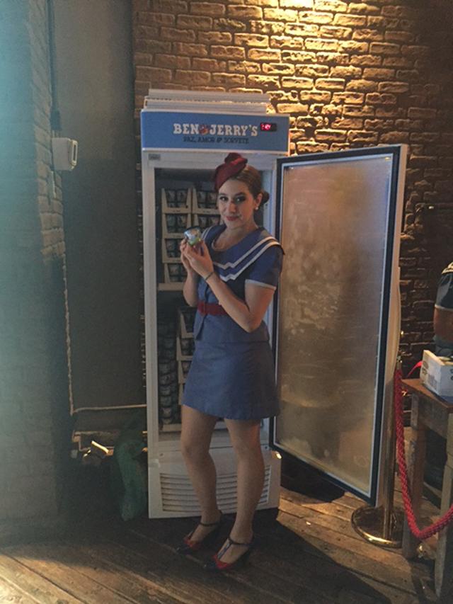 Geladeira de sorvete Ben &Jerry's