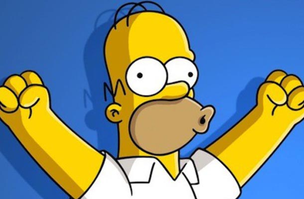 Homer Simpson de braços abertos