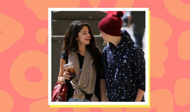 Selena Gomez e Justin Bieber conversando