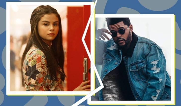 Montagem de fotos de Selena Gomez e Abel
