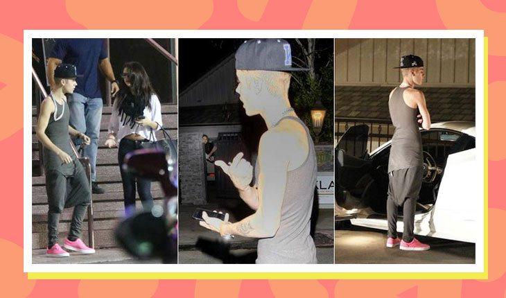 Selena Gomez e Justin Bieber aparecem discutindo e depois Justin aparece sozinho em frente à casa de Selena