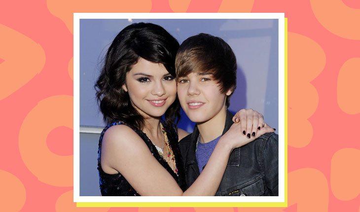 Selena Gomez e Justin Bieber bem novinhos abraçados