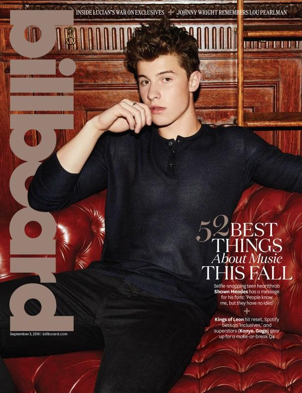 Shawn Mendes na capa da Billboard