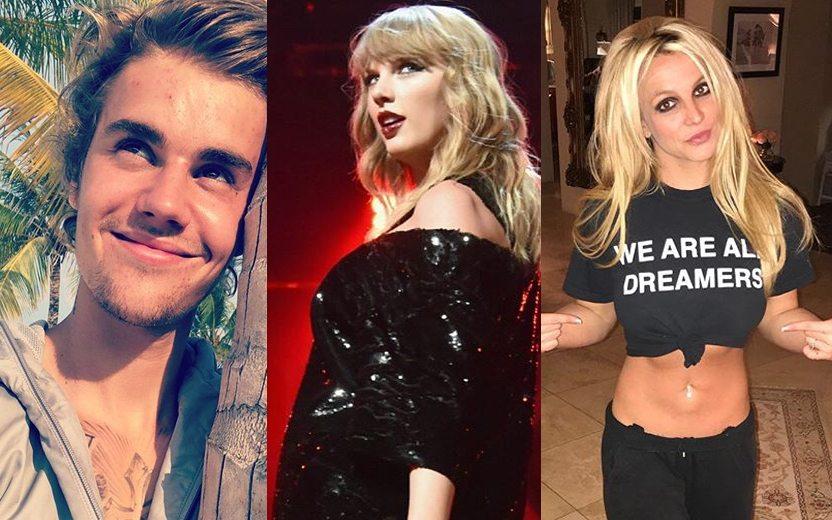 Cantores que já fizeram filmes: Justin Bieber, Taylor Swift e Britney Spears