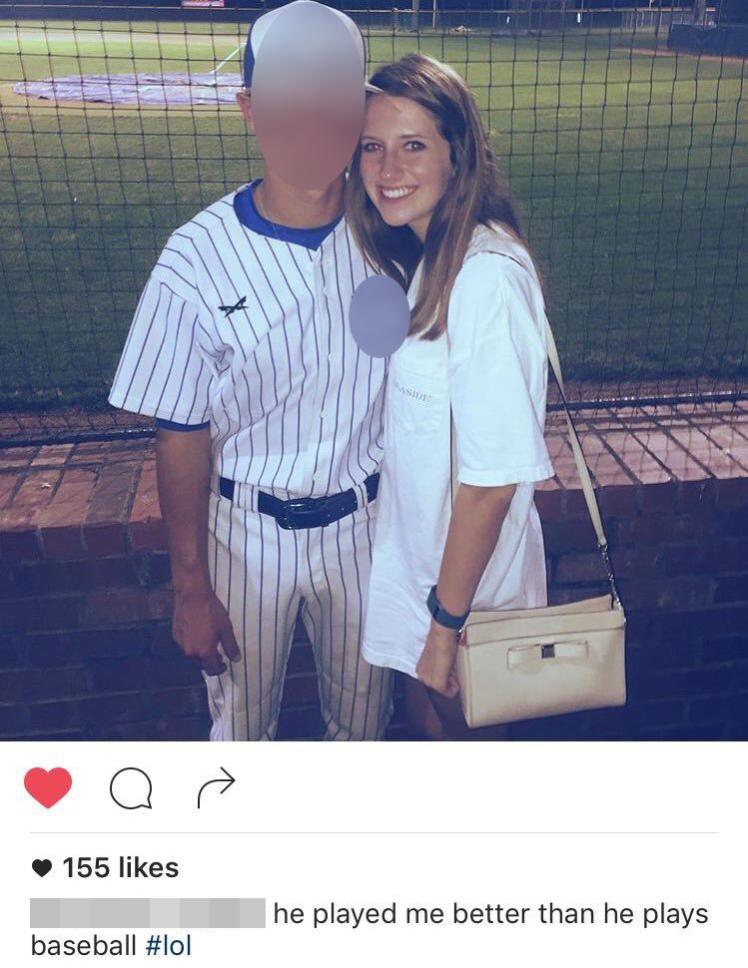 Menina altera legenda de foto com ex
