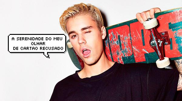 Justin Bieber com cartão recusado