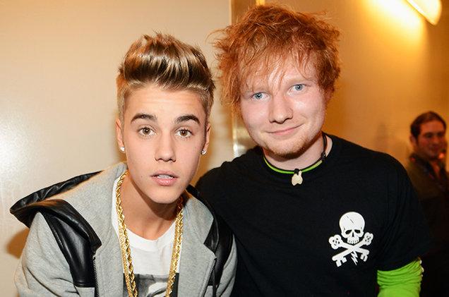 Justin Bieber e Ed Sheeran na Billboard