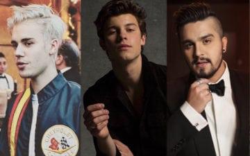 Qual o seu namorado famoso? Justin Bieber, Shawn Mendes ou Luan Santana?