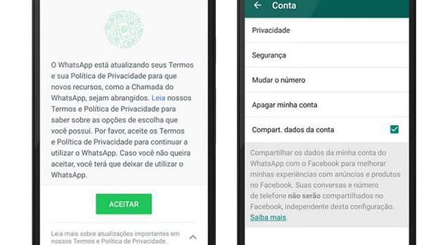 novo termo de privacidade whatsapp