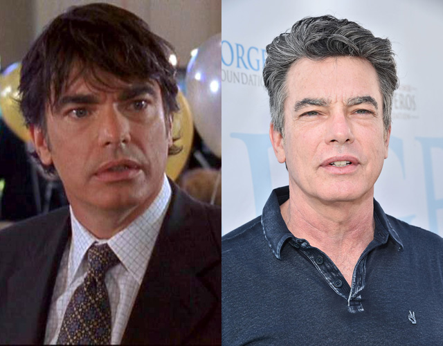Peter Gallagher antes e depois