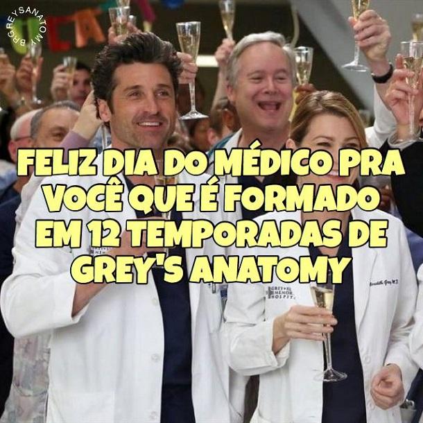 comemoração do dia do médico com greys anatomy