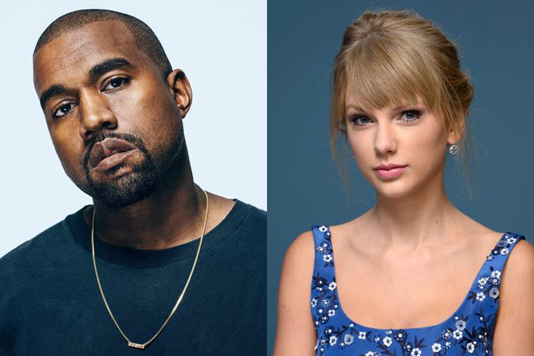 Kanye West ao lado de Taylor Swift