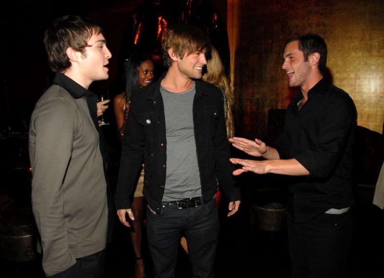 penn badgley, chace crawford e ed westwick em 2007