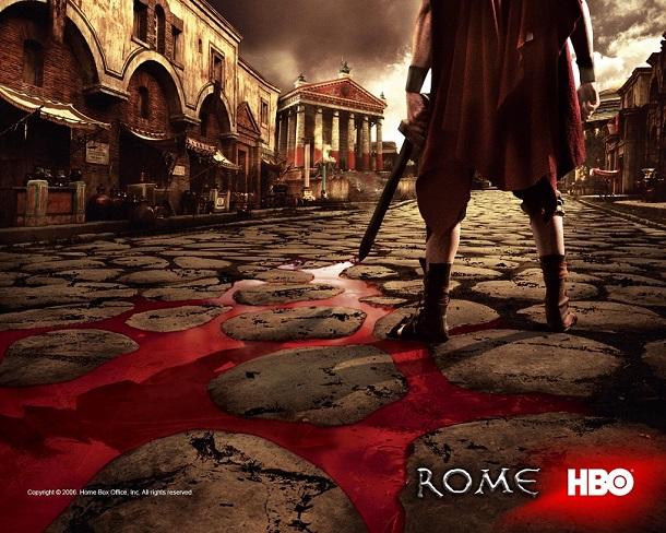 Reprodução de uma cena da série Roma