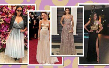 vestido de formatura: famosas usam vestidos longos de diferentes cores e modelos