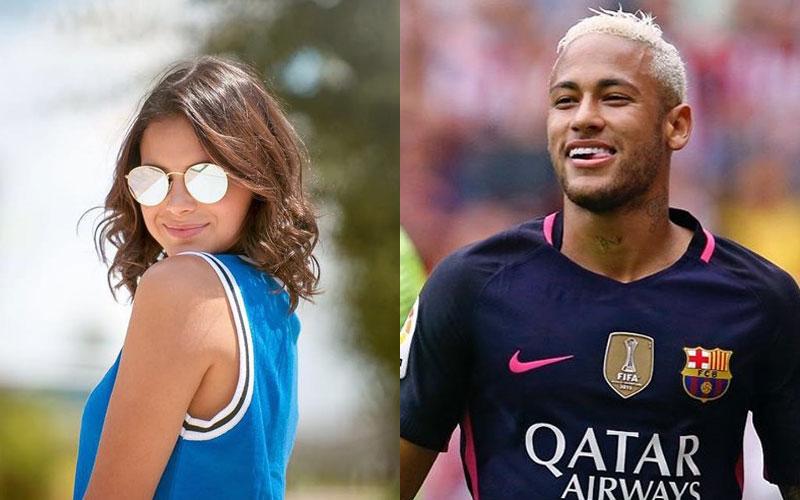 Bruna marquezine com óculos espelhados e neymar
